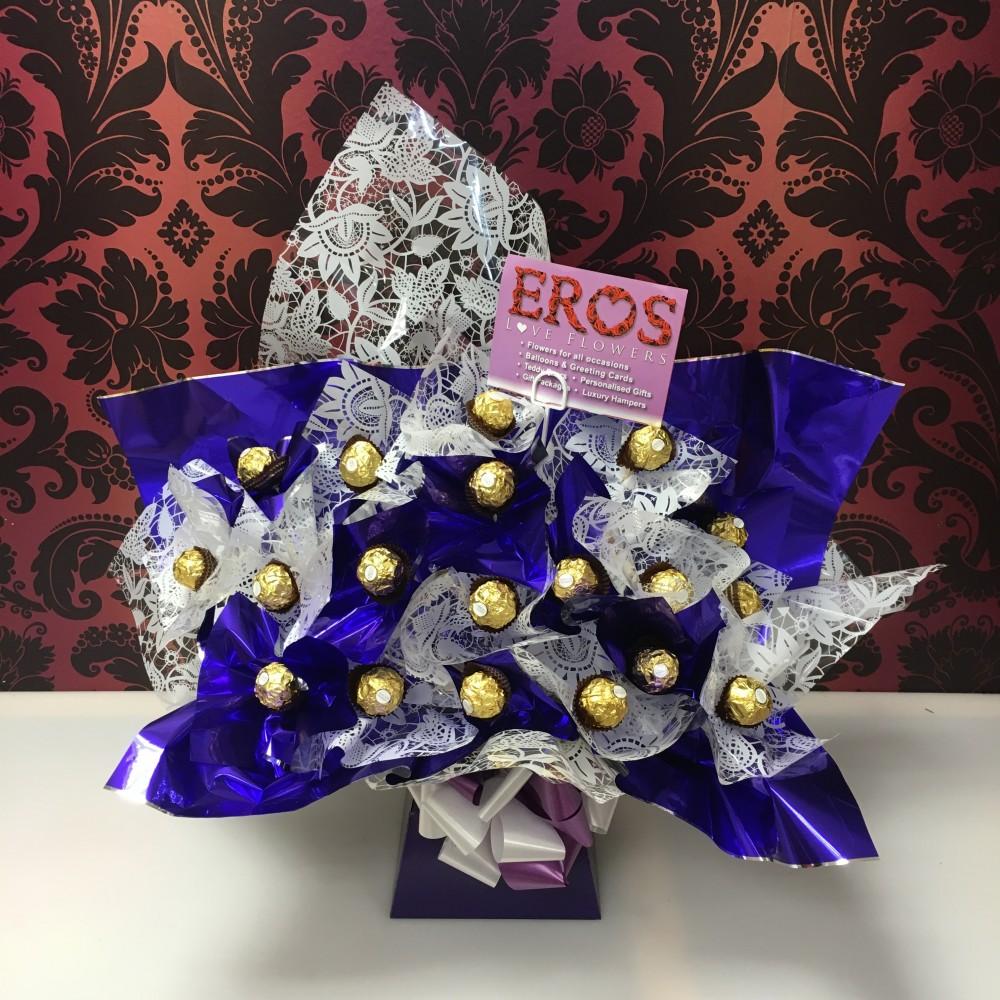 Ferrero rocher purple white eros flowers ferrero rocher purple white izmirmasajfo Images