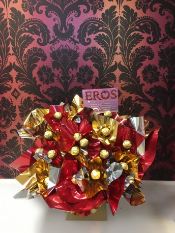 Ferrero Rocher Bouquet Red & Gold